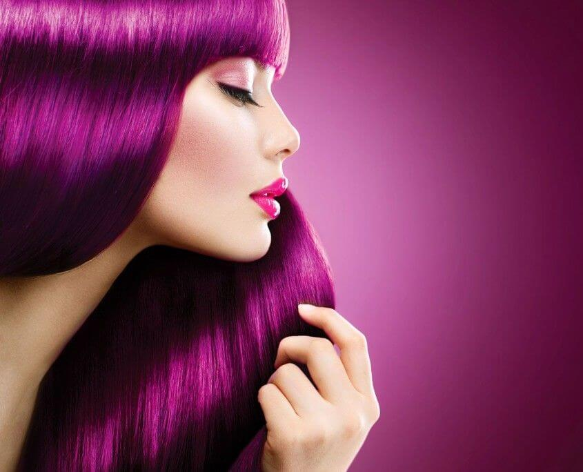 hairstyling pink